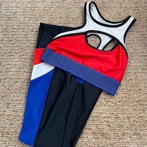 PE Nation Red White, Blue & Black Workout Set
